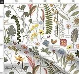 Blumen, Blätter, Pflanzen, botanisch, grün, fabric8