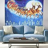 QiruIXinXi Tapiz de Reno navideño, Manta Decorativa Grande para...