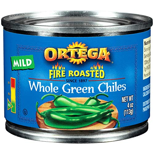 Ortega Whole Green Chilis, Mild, 4 Ounce (Pack of 24)