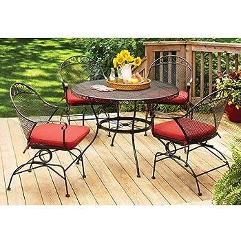 wrought iron patio dining set