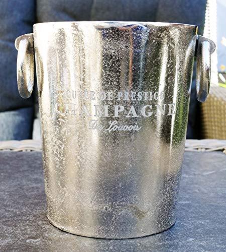 Michael Noll Champagnerkühler, Weinkühler, Flaschenkühler, Aluminium, Silber, S, M, L, 20 cm, 23 cm, 32 cm (20x16,5x20)
