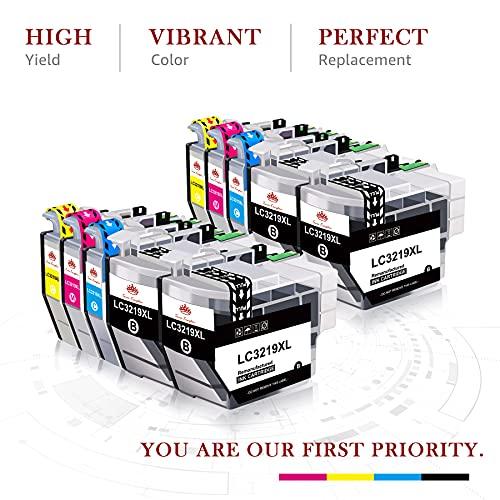 Toner Kingdom Cartucho de Tinta Compatible de Repuesto con Brother LC3219XL LC3219 LC3217 para Brother MFC-J6930DW MFC-J5330DW MFC-J6530DW MFC-J5730DW MFC-J5335DW MFC-J5930DW J6935DW (10 Paquetes)