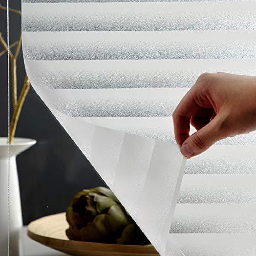 LMKJ Película de Ventana Adhesiva estática, persianas de Vinilo, protección de privacidad esmerilada, Pegatina de Vidrio Decorativa para el hogar, película de Ventana A19 40x200cm
