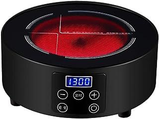 Far bruciatore a infrarossi da tavolo 2200W piastra calda portatile timer di controllo della temperatura doppio anello di fuoco intelligente fornello manopola del tocco compatibile con tutte le pe