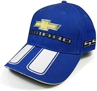 Chevrolet Camaro Rally Stripe Blue Baseball Cap