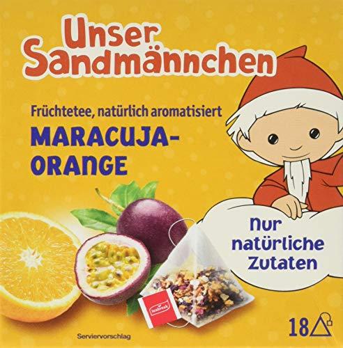 Teabreak Sandmännchen Früchtetee Maracuja-Orange natürlich, 8er Pack (8 x 40 g)