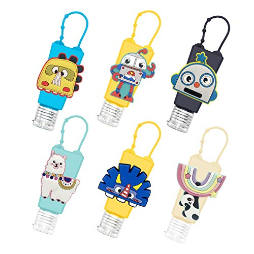 GLCS GLAUCUS 6Pcs 30ML Botellas de Viaje Portátiles para niños Contenedores Desinfectante de Manos...