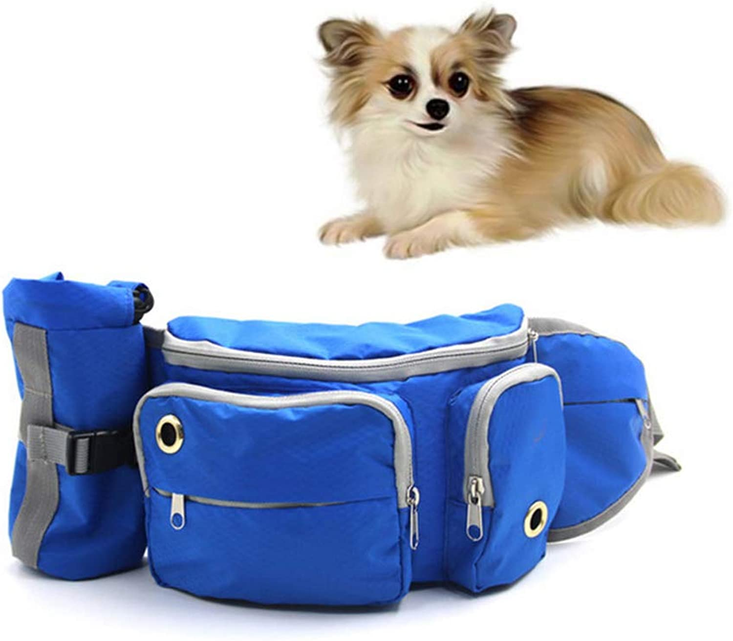 Dog Treat Training Pouch Bag, Dog Treat Training Pouch Waterproof Lining Poop Bag with Waist Clip and Drawstring, Treats  with Poop Bag, Builtin Poop Bag Dispenser