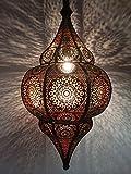 Lámpara Oriental Marroquí - lamparilla colgante - farola de techo Malha - 50cm - muy práctica para una iluminación excelente - transmite una decoración excelente refinada