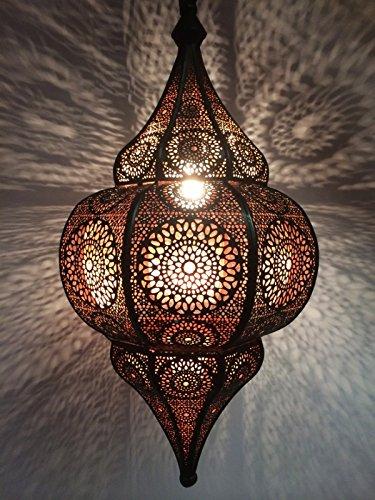 Oosterse lamp hanglamp Malha 50 cm E14 lamphouder | Marokkaans design hanglamp lamp lamp uit Marokko | Orient lampen voor woonkamer keuken of hangend boven de eettafel