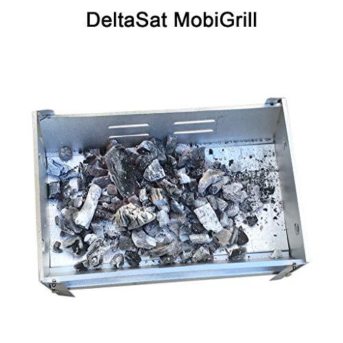 51t2Bo9DhGL - DeltaSat stabiler Minigrill - praktischer Reisegrill mit abnehmbaren Grillrost - leicht zu reinigender Camping-Grill