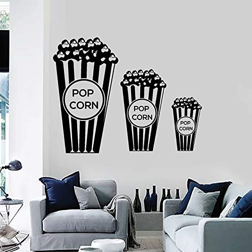 HFDHFH Calcomanía de Pared de Palomitas de maíz Amante de la película TV Cine Sala de Estar Pegatina retráctil Papel Tapiz de Arte para Coche 110X140CM