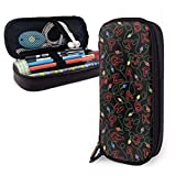 Lock Leather Pencil Case School Supplies for School Office Supplies Students