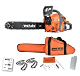 """Best Petrol Chainsaws - eSkde CS62-S7 62cc Petrol Chainsaw with 20"""" Bar Review"""