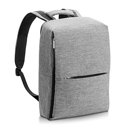 エレコム バックパック ビジネスバッグ リュック 多機能 隠しポケット キャリーホルダー付 A4/13.3インチPC/12インチタブレット対応 グレー BM-F03XGY