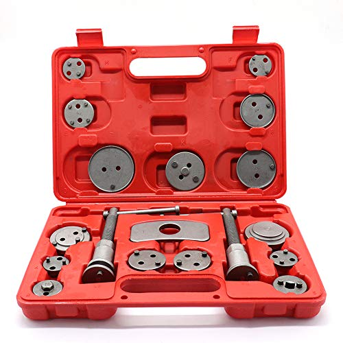 MeterMall Auto For 18pcs/Set Auto Universal Disc Brake Caliper Car Wind Back Pad Piston Compressor Automobile Garage Repair Tool Kit