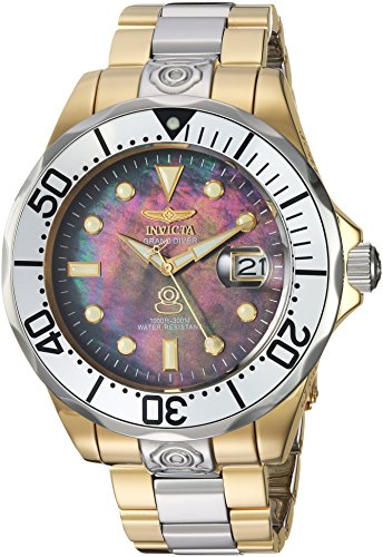 Invicta Men's Pro Diver Automatic-self-Wind Diving Watch with Stainless-Steel Strap, Two Tone, 22...