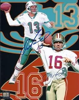 Dan Marino and Joe Montana DUAL Signed - Autographed 8x10 inch Photo - Miami Dolphins - San Francisco 49ers