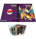 Album di carte collezionabili compatibile con cartella per carte collezionabili Pokemon, raccoglitore porta carte collezionabili TCG, può contenere 240 carte(Ash Ketchum&&Charizard)