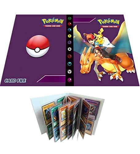 Álbum de Cartas coleccionables Compatible con Carpeta de Cartas Pokemon, Carpeta de...