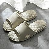 Sandalia Casual con Tiras,Pareja de Zapatillas de casa, Sandalias de baño Antideslizantes y Zapatillas-Khaki_43-44,Sandalias de Ducha