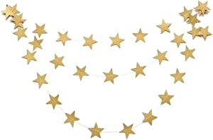 MMRM 4M En Forme d'étoile Papier Guirlande Bruant Suspension Décoration Maison Xmas Fête Mariage - Or