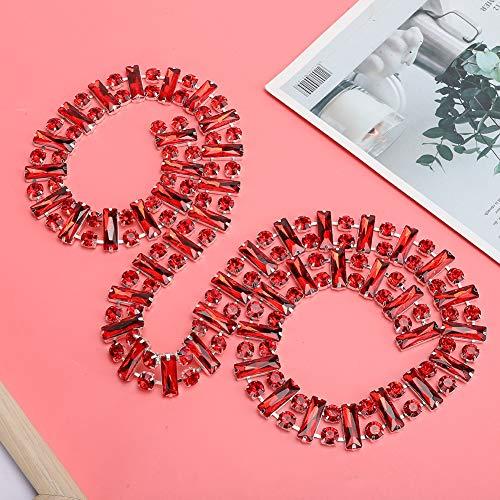 SALUTUYA Strasskette Kette Rot Helle Farbe für Kleider für Möbel für Kopfschmuck für Brautkleider