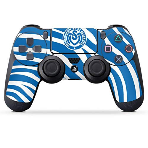 Skin kompatibel mit Sony Playstation 4 PS4 Controller Folie Sticker Offizielles Lizenzprodukt Zebra MSV Duisburg