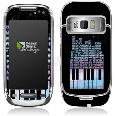 DeinDesign Nokia C7 C7 Case Skin Sticker aus Vinyl-Folie Aufkleber Piano Klavier Klaviertasten