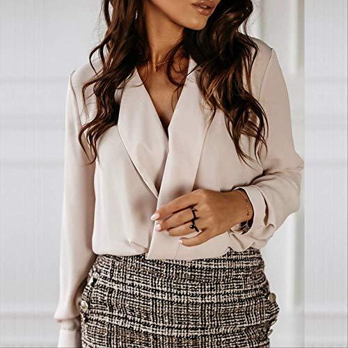 LYFST dames overhemden wit overhemd blouse lange mouw casual dames top en shirt elegante top zakelijke werk shirt