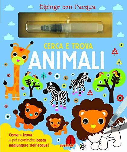 Cerca e trova animali. Dipingo con l'acqua. Con pennarello ad acqua