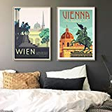 cgsmvp Musikhauptstadt Wien Mozart Vintage Reiseplakate