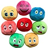 Squeaky Dog Toys, [8 Pack] Soft Stuffed Plush Balls with Squeakers, Interactive Fetch Play for Puppy Small Medium Pets