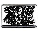Portasigarette/scatola - Sigarette king size, custodia per biglietti da visita in metallo Lynx Leopard