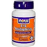 Now Foods, 4x6 Acidophilus, 60 Capsules