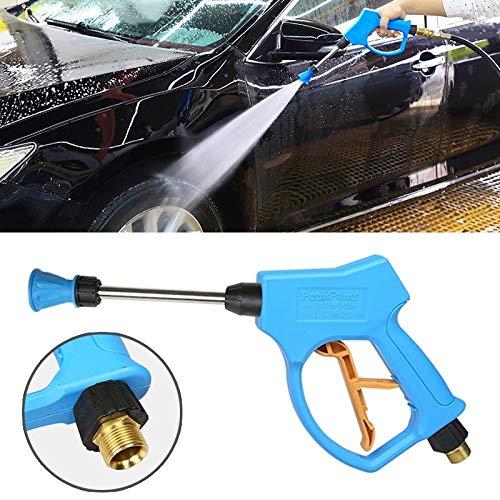 Waterpistool auto druk Washer hoge druk hoorn vorm mondstuk helder waterpistool voor self-service auto wasmachine (buitendraad: 22 X 1.5)