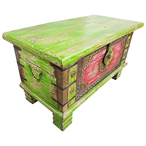 Indoortrend.com Truhe Kiste Holztruhe Box 80 Vintage Massiv Shabby Chic aus Handarbeit Unikat 3 - 2