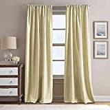 Peri Home Eastman 108-Inch Rod Pocket Window Curtain Panel in Gold