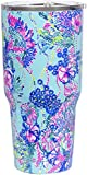 Lilly Pulitzer 30 Ounce Insulated Tumbler with Lid, Large Stainless Steel Travel Cup, Beach You To...