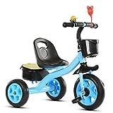 YWAWJ Juguete Triciclo de equilibrio Vespa bicicleta de los niños del cochecito del coche 1-5 Años de Edad de coches de pedales Vespa Selección Muchacho y muchacha del regalo de cumpleaños de biciclet