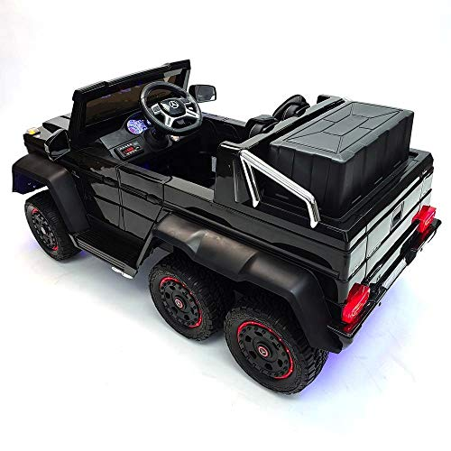 Electric ride on car Truck 24v 6 Wheels 6x6 G63 2 Leather Seats LED Lights on The Wheels 6 Motors Rubber Eva Tiers Parent Remote Control Lights Inside The car and Under The car 2021