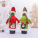 FCYQBF Decoración navideña Soporte para Botella de Vino Muñeco de Nieve Pingüino Hogar Restaurante Hotel Cubierta para Botella de Vino Ropa Decoraciones para Mesa de Comedor Adornos