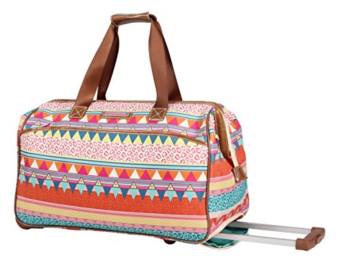 Lily Bloom Wheeled Duffel Bag (14in, On the Prowl)
