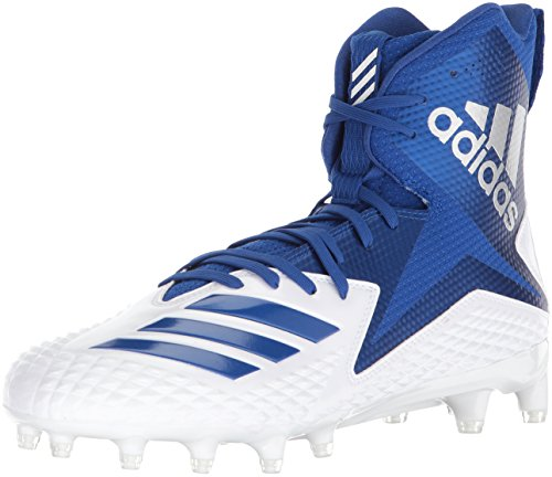 adidas Herren High Freak X Carbon Mid Football-Schuhe, White Collegiate Royal, 52 EU M