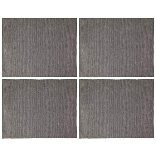 IKEA Marit Platzdeckchen aus Stoff, 35 x 45 cm, Grau, 4 Stück