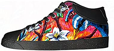 Customized Peacock New Canvas Sneaker Shoes for Women