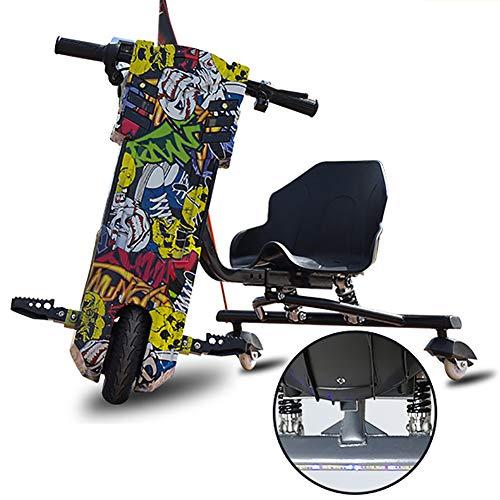 Kart Electrico Drift Coche Eléctrico Drift-Trike Se Agregaron Amortiguadores Traseros De Doble Resorte Y Faros LED Adecuado para Niños Mayores De 6 Años