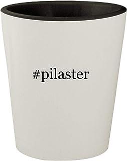 #pilaster - White Outer & Black Inner Hashtag Ceramic 1.5oz Shot Glass