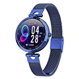 LTLJX Smartwatch Reloj Inteligente, Smart Watch Mujer Impermeable IP67 con Monitor de Sueño Pulsómetros Cronómetros Contador de Caloría, Pulsera de Actividad Inteligente con iOS y Android,Azul
