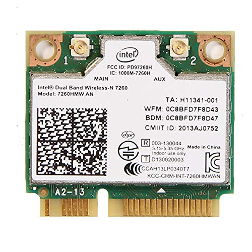 Intel Dual Band Wireless-AC 7260 2x2 Network plus Bluetooth adapter (7260.HMWWB.R)